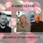 Vinnerne Sørlandets litteraturpris