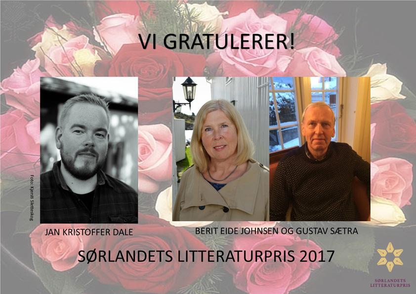 Vi gratulerer vinnerne av Sørlandets litteraturpris 2017!