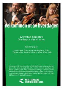 Kristiansand symfoniorkester @ Amfiet, Grimstad bibliotek